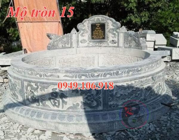 Xây mộ hình tròn đẹp bằng đá 15