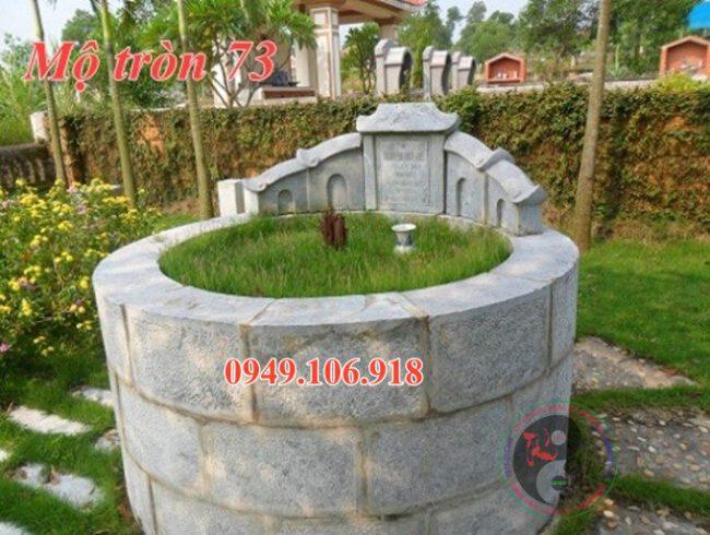 Xây mộ tròn bằng đá đẹp 73
