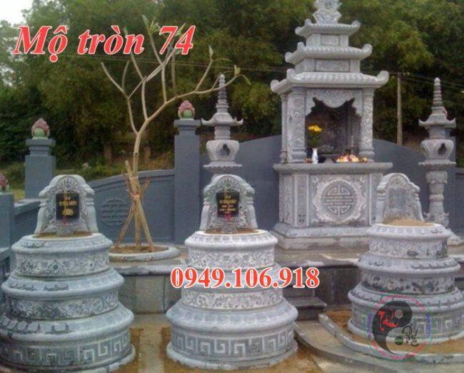 Xây mộ tròn bằng đá đẹp 74