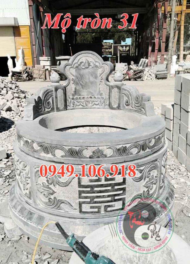 Xây mộ tròn đẹp bằng đá 31