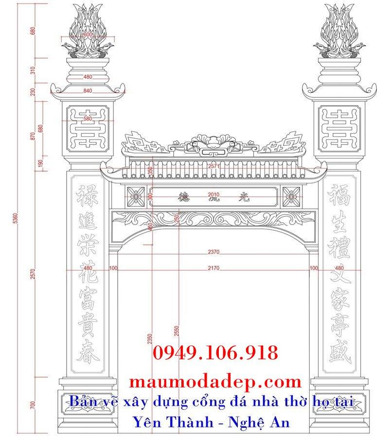 Kích thước cổng theo phong thủy