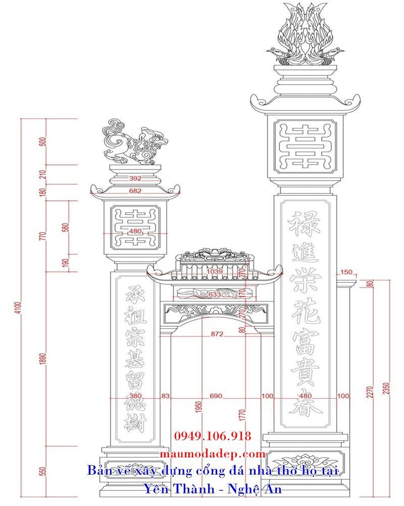 Kích thước xây cổng theo phong thủy