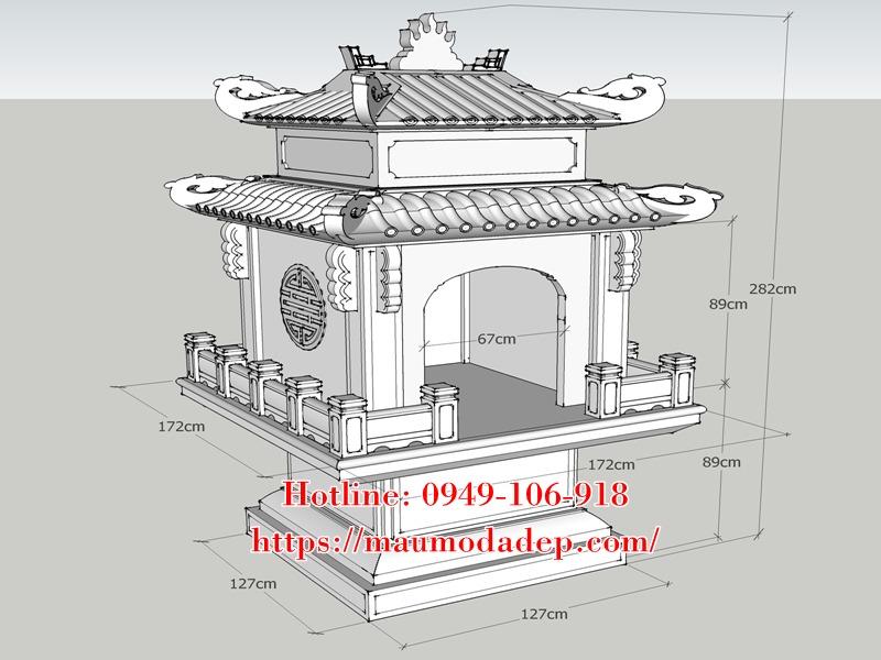 Kích thước xây miếu thờ