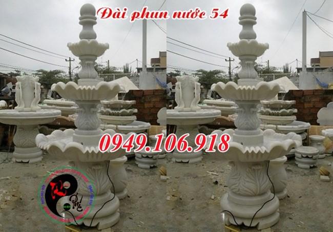 Trụ đá đài phun nước sân vườn phong thủy 54
